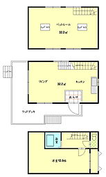 伊賀市槇山中古一戸建住宅 2LDKの間取り