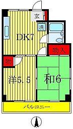 キャッスル新松戸[3階]の間取り