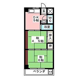 マツヤマンション[3階]の間取り
