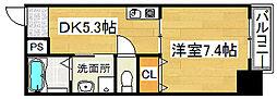 ロッソ北花田[10階]の間取り