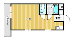 TKシャルム高宮(旧PLEAST高宮IV)[405号室]の間取り