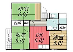 千葉県成田市美郷台3の賃貸アパートの間取り