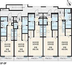 La Sua Casa.H 1階ワンルームの間取り