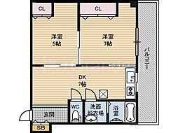 マンション樅[3階]の間取り