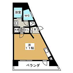 リエス東別院[2階]の間取り
