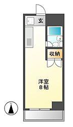 シャトー栄[5階]の間取り