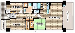 兵庫県神戸市中央区栄町通7丁目の賃貸マンションの間取り