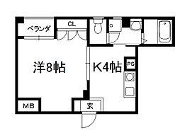 メゾン興戸[201号室]の間取り