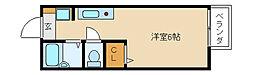 須磨六麗館[2階]の間取り