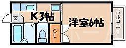 広島県広島市安芸区中野東7丁目の賃貸アパートの間取り