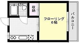 コーポ横山[210号室]の間取り