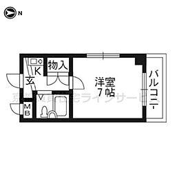 未麗 西京極[4階]の間取り