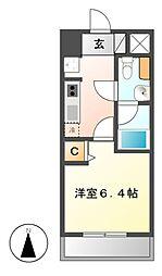 レジディア久屋大通[6階]の間取り