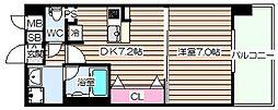 大阪府大阪市北区豊崎4丁目の賃貸マンションの間取り