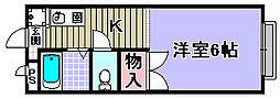 シャンソン和泉中央[203号室]の間取り