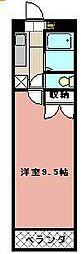 KMマンション八幡駅前III[614号室]の間取り