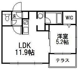 Grato平岸[1階]の間取り