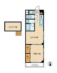 エステート新松戸25[3階]の間取り