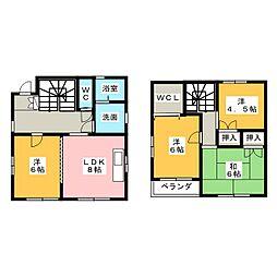 [一戸建] 岐阜県岐阜市長良2丁目 の賃貸【/】の間取り
