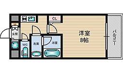 クレアートアドバンス北大阪[10階]の間取り
