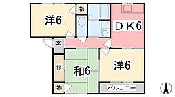 兵庫県姫路市田寺東3丁目の賃貸アパートの間取り