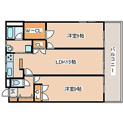 兵庫県神戸市西区美賀多台1丁目の賃貸マンションの間取り