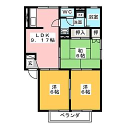 メゾン・トリヴェールA[2階]の間取り