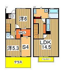 [テラスハウス] 千葉県我孫子市湖北台10丁目 の賃貸【/】の間取り