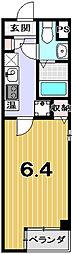 LA CACHETTE[1-C号室]の間取り