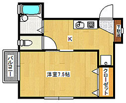 メゾンテリー[2階]の間取り