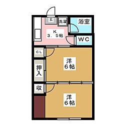 ハイツ寿[1階]の間取り