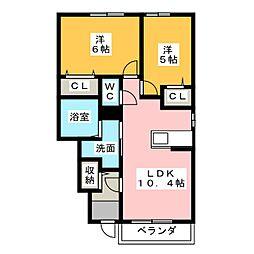 ルグランI・II[1階]の間取り