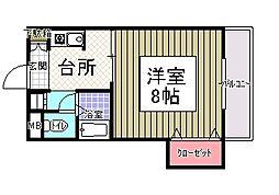 サンシャイン田代2[4階]の間取り