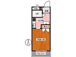 メトロノーム3[2階]の間取り