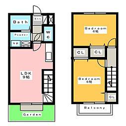 ウッディタウン I[1階]の間取り
