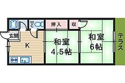 幸福荘[103号室]の間取り