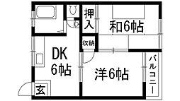 森ハイツ[2階]の間取り