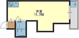 サンライズ小阪A[602号室]の間取り