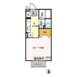 サンビレッジ足利 /[1階]の間取り
