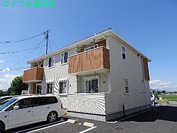 三重県桑名市長島町出口の賃貸アパートの外観