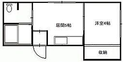 北海道札幌市南区澄川四条4丁目の賃貸アパートの間取り