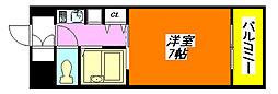 リップル布施・イースト 203号室[2階]の間取り
