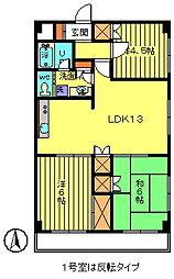 サンウッド2[1階]の間取り