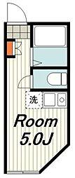 横浜市営地下鉄ブルーライン 踊場駅 徒歩7分の賃貸アパート 1階ワンルームの間取り