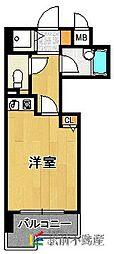 ライオンズマンション六本松第3[505号室]の間取り