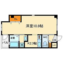 大阪府箕面市小野原西5丁目の賃貸マンションの間取り