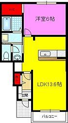リエート新田II[1階]の間取り