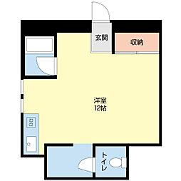 オレンジハウス[206号室]の間取り
