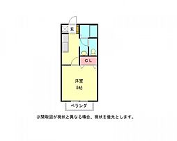 愛知県一宮市今伊勢町新神戸字郷前の賃貸アパートの間取り