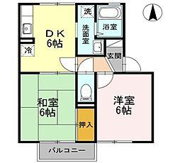スイートハウス II棟[2階]の間取り